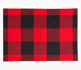 BUFFALO CHECK Placemat (Black/Red)