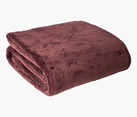 ARIANNA Coral Fleece Blanket (Brown)
