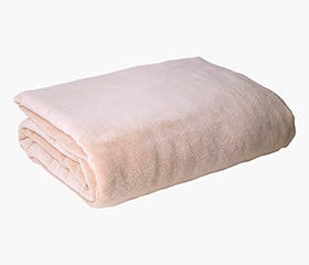 ARIANNA Coral Fleece Blanket (Beige)