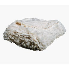 SOPHIE Faux Fur Throw (White)