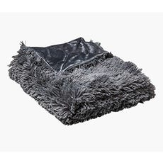 SOPHIE Faux Fur Throw (Grey)