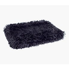 SOPHIE Faux Fur Throw (Black)