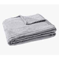 SIRI Grey Throw Blanket