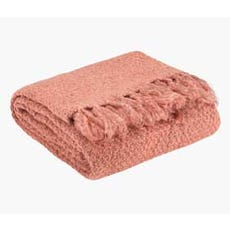 LINNEA Knitted Throw (Old Rose)