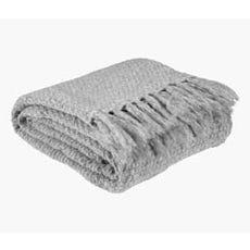 LINNEA Knitted Throw (Light Grey)