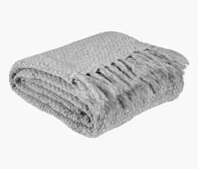 LINNEA Knitted Throw (Light Grey)