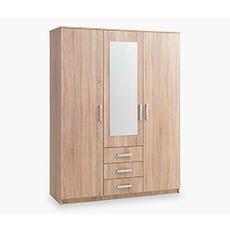VINDERUP 3 Door Wardrobe (Sonoma)