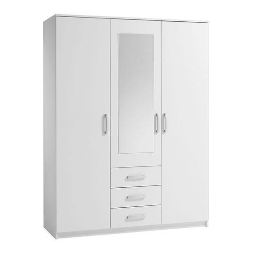 VINDERUP 3 Door Wardrobe (White)