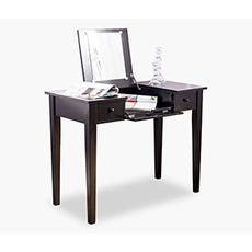 DITTE dressing table with Mirror (Black)