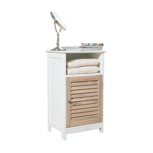 CAJA 1 Door Low Cabinet (White)