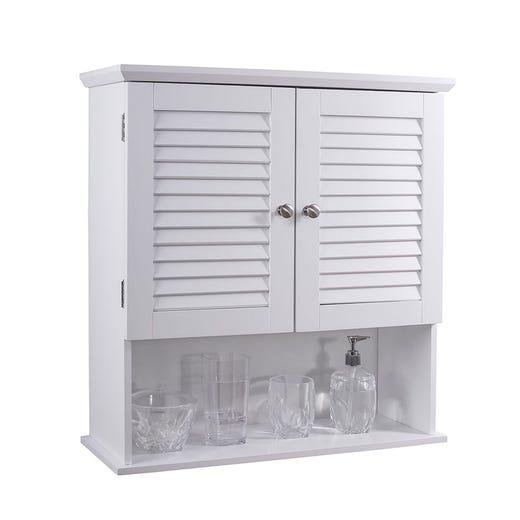 HANNA 2 Door Wall Cabinet (White)