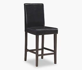 Chaise Hauteur de Comptoir BILLUND - Noir