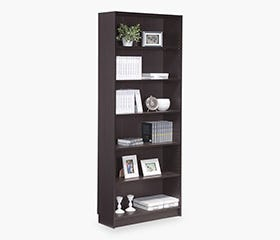DANNY Bookcase Tall (Dark Brown)