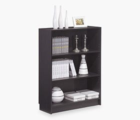 DANNY Bookcase Wide (Dark Brown)