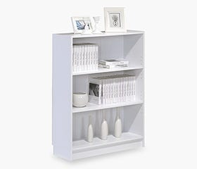 DANNY Bookcase Wide (White)