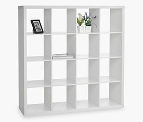 NYSTED 16 Cube Bookcase (White)