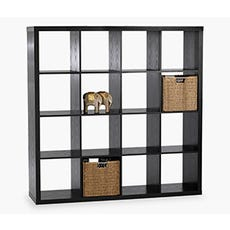 NYSTED 16 Cube Bookcase (Black)