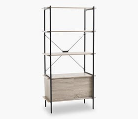 VANDBORG Shelf with Storage