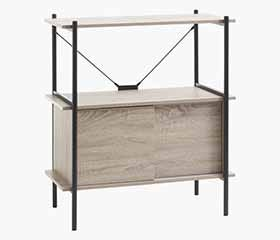 VANDBORG Low Shelf with Storage