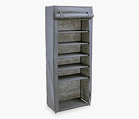 LUDVIKA 7 Tier Shoe Rack (Grey)