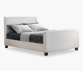 HOFBURG Double Bed Frame - White