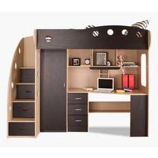 NIKA Loft Bed (Maple + Black)