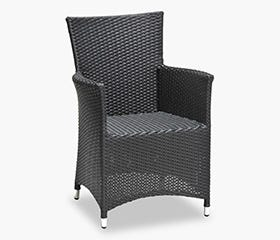 black summer patio chair