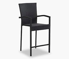 BAR Patio Bistro Chair (Black)