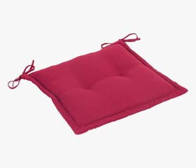 red outdoor seat cushion