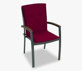 patio dining chair mid-back cushion