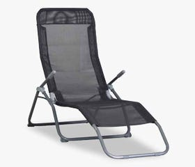 SIESTA Outdoor Beach Chaise Lounge (Grey)