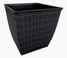 black planter pot