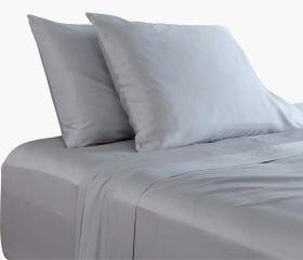 Luxurious grey sheets set made from bamboo sateen