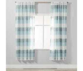 BERN Sheer Curtain - 1 Panel (Teal)