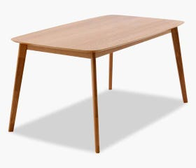 Scandinavian-inspired natural dining table