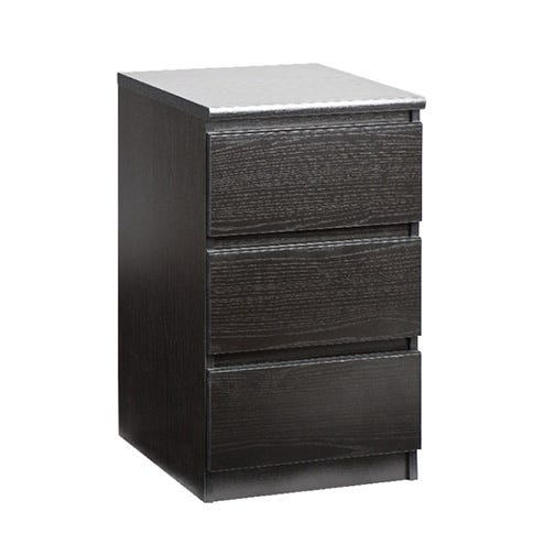 BRONDBY 3 Drawer Nightstand