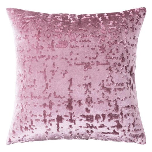 CELINA Embossed Throw Pillow 60x60cm (Pink)
