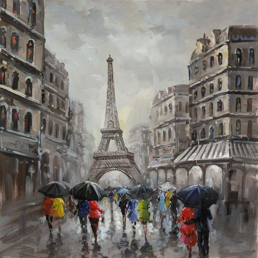 CHAMPS ELYSEES Oil Painting