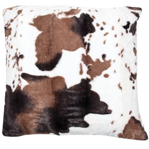 COWHIDE Faux Fur Deco Cushion