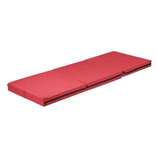 Tri-folding mattress with washable cover