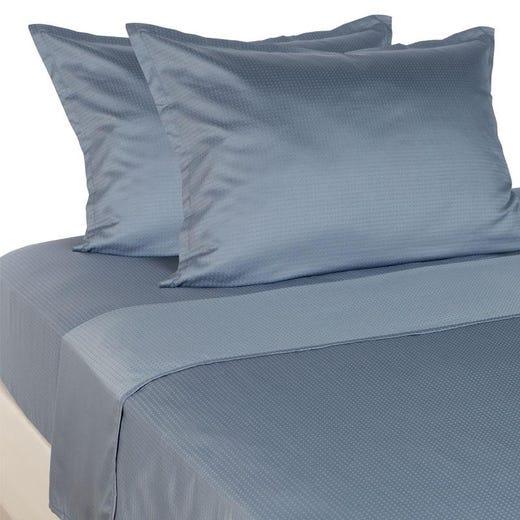 INGEBORG Sheet Set, Blue Dobby
