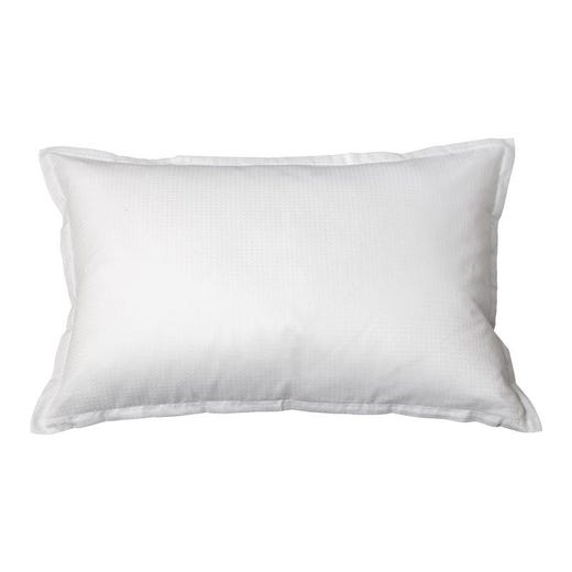 INGEBORG 100% Cotton Sateen Pillowcase, White Dobby