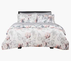 7 piece Bed-in-a-Bag, butterfly design