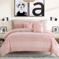 pink cotton comforter set