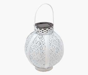 white solar lantern
