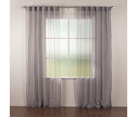 LIAM Sheer Curtain - 1 Panel (Grey)