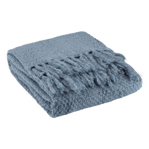LINNEA Knitted Throw (Petrol)