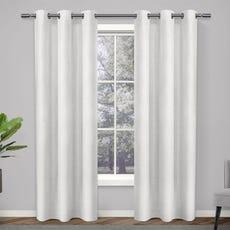 LONDON Room Darkening Curtain 97x123cm (White)