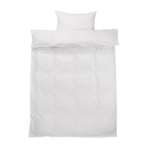 MERETE White Duvet Cover Set (Twin)