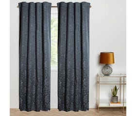 OTTILIA Jacquard Blackout Curtain - 1 Panel (Dark Grey)